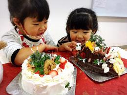 大阪の子ども料理教室キッズハンズ年間予定体にやさしい米粉のクリスマスケーキ(12月)