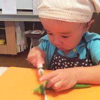大阪の子ども料理教室キッズハンズ年間予定ゴーヤが大好きなる魔法の収穫レッスン(8月夏休み中)